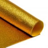 004 Фоамиран с глиттером, золото, 21*29.7см, уп.5шт, Код товара: 1058847