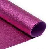 001 Фоамиран с глиттером, темно-розовый, 21*29.7см, уп.5шт, Код товара: 1058844
