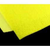 011 Фоамиран махровый (плюшевый), желтый, 21*29.7см, уп.5шт, Код товара: 1058864