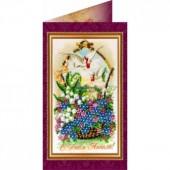 AO-015 С Днем Ангела. Абрис Арт. Набор-открытка для вышивания бисером (АО-015)