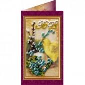 AO-001 Пасхальная открытка-1. Абрис Арт. Набор-открытка для вышивания бисером (АО-001)