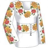 F2501 Маки. Диана Плюс. Схема + выкройка для вышивания женской сорочки