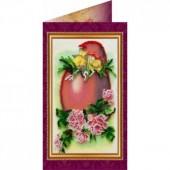 AO-005 Пасхальная открытка-5. Абрис Арт. Набор-открытка для вышивания бисером (АО-005)
