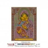 3012Б Икона Божьей Матери Владимирская. Матренин Посад. Схема на ткани для вышивания бисером