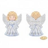 В-002 Ангелочек в серебре. Тэла Артис. Схема для вышивания бисером