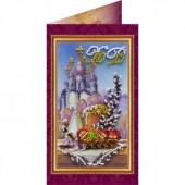 AO-008 Пасхальная открытка-8. Абрис Арт. Набор-открытка для вышивания бисером (АО-008)