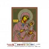3013Б Икона Пресвятой Богородицы Грузинская. Матренин Посад. Схема на ткани для вышивания бисером