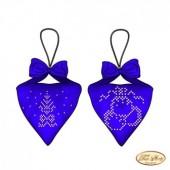 В-016 Пендибуль новогодний синий. Тэла Артис. Схема для вышивания бисером