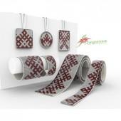 P-015 Амулет прямоугольник. А-строчка. Схема на ткани для вышивания бисером