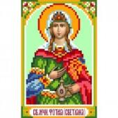 3017 Святая Фатинья (Светлана). Матренин Посад. Схема на ткани для вышивания бисером