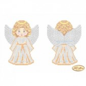 В-001 Ангелочек в золотом. Тэла Артис. Схема для вышивания бисером