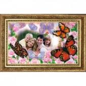 855 Фоторамка 5 (по Вашему фото). Butterfly. Набор для вышивания бисером
