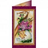 AO-006 Пасхальная открытка-6. Абрис Арт. Набор-открытка для вышивания бисером (АО-006)