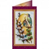 AO-007 Пасхальная открытка-7. Абрис Арт. Набор-открытка для вышивания бисером (АО-007)