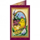 AO-003 Пасхальная открытка-3. Абрис Арт. Набор-открытка для вышивания бисером (АО-003)