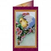 AO-002 Пасхальная открытка-2. Абрис Арт. Набор-открытка для вышивания бисером (АО-002)