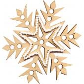 F-036 Набор новогоднее украшение из фанеры Зимние фантазии, Код товара: 1056651