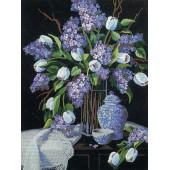 01529 Набор для вышивания гладью DIMENSIONS Тюльпаны и кружево, Код товара: 1059288