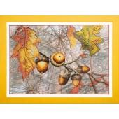ВТ-503 Набор для частичной вышивки крестиком Crystal Art Осенний набросок , Код товара: 1052752
