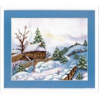 ВТ-513 Набор для частичной вышивки крестиком Crystal Art Теплая зима, Код товара: 1053724