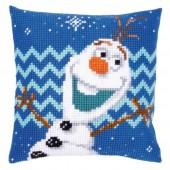 PN-0165925 Набор для вышивания крестом (подушка) Vervaco Disney Frozen Olaf, Код товара: 1060448