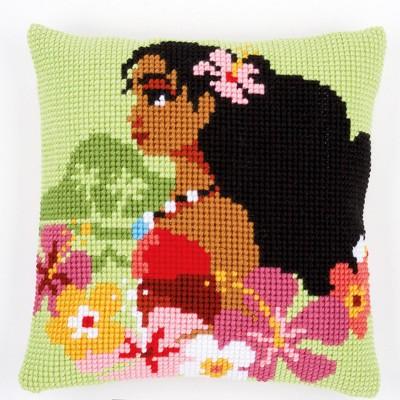 PN-0168027 Набор для вышивания крестом (подушка) Vervaco Disney Vaiana Moana, Island girl, Код товара: 1060461