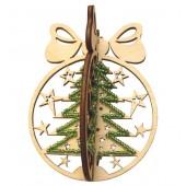 F-022 Набор новогоднее украшение из фанеры Новогодний шар Елка, Код товара: 1056678