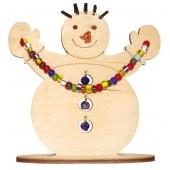 F-033 Набор новогоднее украшение из фанеры Снеговик, Код товара: 1056629