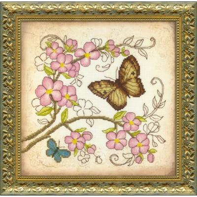 ВТ-511 Набор для частичной вышивки крестиком Crystal Art Очарование весны, Код товара: 1053596