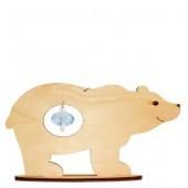 F-031 Набор новогоднее украшение из фанеры Медведь, Код товара: 1056614