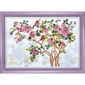 ВТ-1007 Набор для вышивания Crystal Art Цветущий шиповник, Код товара: 1053551