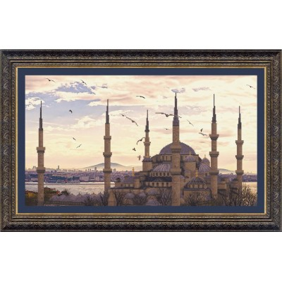 ВТ-516 Набор для частичной вышивки крестиком Crystal Art Мечеть Султанахмет, Код товара: 1053729
