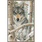 03228 Набор для вышивания крестом DIMENSIONS Зимний волк, Код товара: 1058887