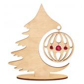 F-034 Набор новогоднее украшение из фанеры Лесная красавица, Код товара: 1056659