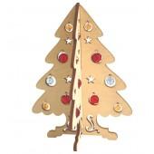 F-024 Набор новогоднее украшение из фанеры Новогодняя елочка, Код товара: 1056676
