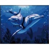 Дельфины. Набор для рисования картины по номерам